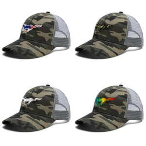 Mens Women Ford Mustang 3D effect flag gt Adjustable Trucker Cap Dad Designer Blank Fashion Baseball Hat black camouflage price logo car