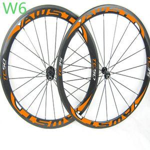 FFWD F6R beyaz mavi çıkartma 50mm bisiklet karbon jantlar V fren düğüm noktası yol bisikleti jantlar ücretsiz nakliye yüzey bazalt set rulman hub