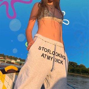 Verão Designer Womens Casaul calças soltas Striped Impresso Mid cintura reta Esportes estilo de roupa Feminino Calças # 969