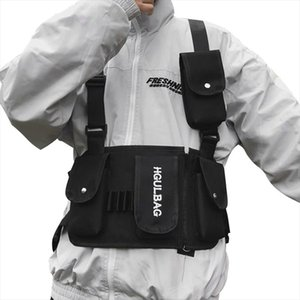 Men Chest Rig Bag Women Waist Pack Hip Hop Shoulder Crossbody Man Tactical Kanye West Vest Chest Black Streetwear Bags 510