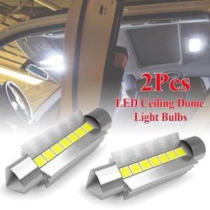 2Pcs Car Ceiling Dome Light Bulbs Super Bright High Power 42MM 578 212-2 6000K Bright White Ceiling Dome Light