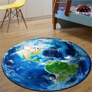 Nordic trend round suede carpet living room bedroom mat earth moon rug bath fashion Dia. 60 80cm
