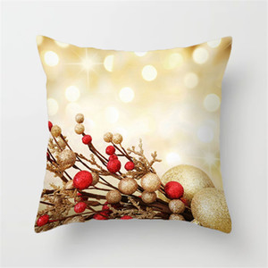 Elk Santa Claus Pillow Case Christmas Cushion Cover Merry Christmas Ornament 2020 Xmas Gift Christmas Decorations For Home Free Shipping