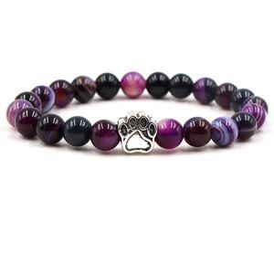New dog Bracelet Men Black Lava Healing Balance Beads Reiki Buddha Prayer Natural Stone Yoga Bracelet For Women