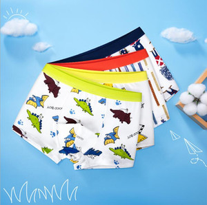 Boy Kids Clothing Underwear 100% cotton High Quality Boy flat corner Cartoon Dinosaur Stars Soldier Print boy Underwear