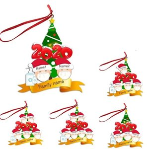 Christmas mask snowman pendant resin Ornament Christmas tree pendant Christmas Decoration Gift wishes the whole family peace 80PCS T500260