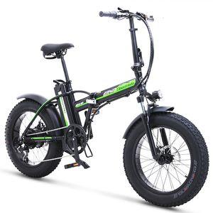 Resmi ShengMilo MX20 20 inç Elektrikli Bisiklet 48 V Lityum Pil Elektrikli Plaj Dağ Bisikleti Katlanır Elektrik Güç Yardımı Snowmobile