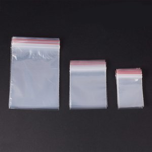 300 Pcs Saran Wrap Plastic Bags Reclosable Zipped Lock Storage Bags Jewelry Zip Poly Clear