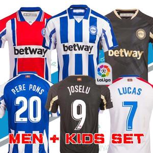 2020 2021 ألافيس لكرة القدم بالقميص الافيس 100th المئوية camiseta دي فوتبول PERE PONS لوكاس خوسيلو MEN + KIDS قمصان كرة القدم