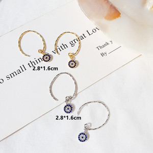 Golden Evil Eyes 2020 Rushed New Pendientes Earing Brinco Fashion Cubic Zircon Stud Earrings For Women Jewelry