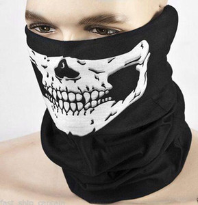 Multi Function Skull Face Mask Outdoor Sports Warm Face Mask Scarf Halloween Skull Face Mask Cycling Motorcycle