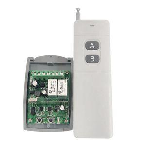 Wireless Universal Remote Control Switch - 2CH Relè Modulo ricevitore, telecomando RF (433Mhz) Trasmettitore per Smart Home Appliances - Bianco
