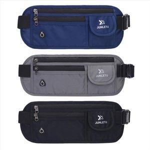 waist bag THINKTHENDO New Nylon Slim Travel Pouch Bag Hidden Compact Money Passport ID Waist Holder Bag