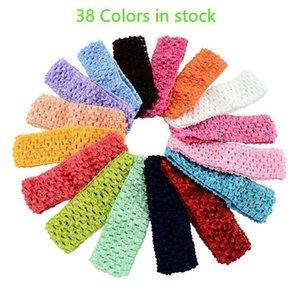 Baby 4 cm breit Nylon Häkelarbeit-Stirnband-Kind-Baby Diy weiches Gummiband-Kind-1 0,57 Stirnband-Qualitäts-38 Farben Kha57