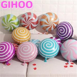 2PCS 18inch ducha Lollipop globos parte Bithday globo caramelo dulce bebé hincha fiesta de la boda fuentes de las decoraciones