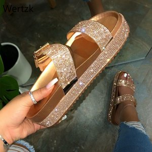Summer Fashion Women's Shoes Woman Platform Sandals Slippers Slides with Buckle Ladies Slippers Thick Sole Female B481