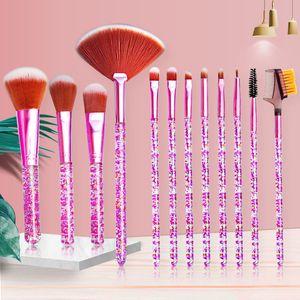 12Pcs Set Makeup Brush Set Eye Brush Beauty Tools Fan Powder Eyeshadow Contour Beauty Cosmetic Colorful For Make Up Tool