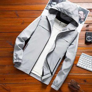 Homme Print Hooded Jacket Striped Slim Pocket Mens Bomber Jackets Winter Men's Windbreakers Hoodies Jacket Casual Baseball Coat