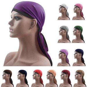 1pc Long Tail Durag Hip Hop Turban Unisex Breathable Bandana Hat Silky Satin Durag Do Doo Du Rag Long Tail Headwrap Headwear