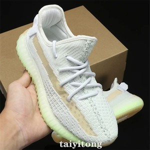 Новое Высокое качество Мужчины Удобная повседневная обувь Kanye West Женская обувь Gid Glow Клей Белуга 2,0 size36-46