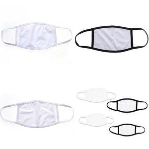 DHL envía Earloop plegable sublimación Blanks mascarilla de protección contra polvillo de bricolaje de impresión en blanco Máscara Mascarilla de tela Niños Adultos