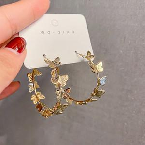 Personality Einfache Metallbeschaffenheit Schmetterlings-Band-Ohrringe Temperament Art und Weise Europa und Amerika Frauen Schmuck Accessoires