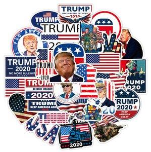 Дональд Трамп 2020 автомобилей наклейки Poster бампер наклейка флаг Keep America Марка Great Таблички для Skatebroad Чемодан Автомобиль Пастер D91705