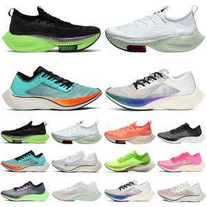 Nike Air Zoom Alphafly ZoomX VaporFly NEXT% vapor fly Lime Blast hombres mujeres zapatillas para correr zapatillas deportivas para hombre zapatillas deportivas