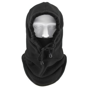 Men's Winter New Outdoor Sports Bib Hat Warm and Cold Thickened Face Mask Fleece Warm Hat Black Ski Mask Cycling Cap