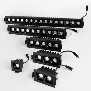 2W / 4W / 6W / 10W / 20W / 30W LED SpotLight ligne barre de lumière linéaire de création bande longue CRI85 couloir de salon lumière à encastrer