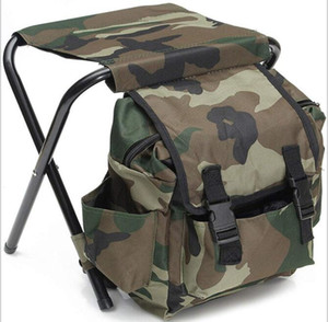 Tragbare Camping-Stuhl mit Rucksack Ultra Folding Backpacking Stuhl im Freien Wander Camping Wandern Hocker Lager Möbel heißen Verkauf