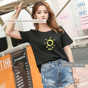 6cvJY 2019 лето Underpants корейского базу 2019 рубашка с коротким рукавом T- Трусы T- женских корейских женщин с короткими рукавами летом база рубашка Sid