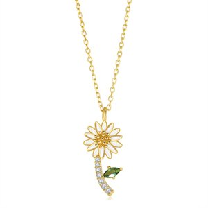 collar de diseñador 925 clavícula cadena de plata adecuada para la fiesta de la tertulia del encanto de la joyería colgante de crisantemo