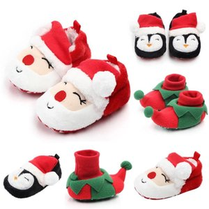 newborn shoes Christmas New Mixed Colors Soft Warm Infant Shoes Cartoon Baby Girl Baby First Walkers Booties zapatos #3F