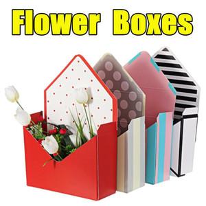 Bouquet Gift Box Envelope Flower Boxes Cardboard Folding Floral Bouquet Paper Box Romantic Flower Paper Holder Decor 12Pcs Set