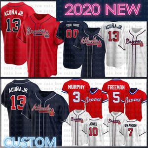 2020 nueva Ronald Acuña Jr Jersey Freddie Freeman jersey de béisbol de Chipper Jones Dale Murphy Dansby Swanson OZZIE ALBIES Dansby Swanson