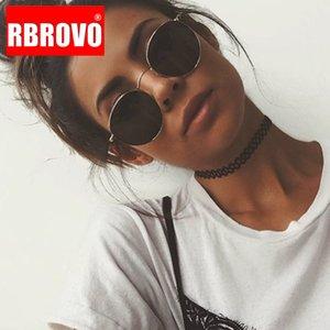 RBROVO 2020 Vintage Овал Классические солнцезащитные очки Женщины / Мужчины Очки Street Взбить Shopping Mirror Gafas UV400