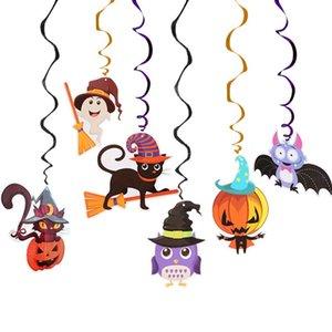 6шт потолка Подвесной Swirl украшения Halloween Party украшения Horror House Festival Party Supplies DIY Party Event орнаменты C0927