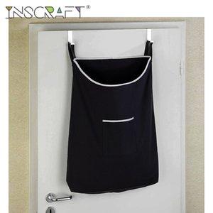 Uzay Tasarruf Üzeri Sepet Banyo Çamaşır Sepet Oganizer Çamaşır Odası Asma kapı Kirli Giyim Depolama Bag Monteli
