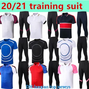 Training Soccer Jerseys 20 21 Mbappe Cavani Verratti Tracksuit Chemise de football à manches courtes ICARDI JERSEYS POLO Kit adulte