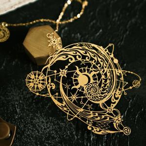 Raffreddare Hollow Out Design The Mysterious 95 millimetri universo creativo segnalibro del metallo del regalo * 73 millimetri di trasporto