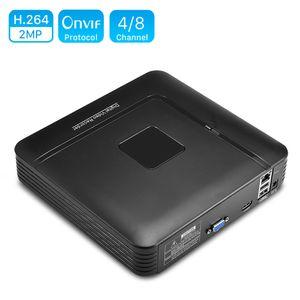 Мини CCTV NVR 4CH 8Ch Для H.264 16CH Для H.265 Video Recorder DVR Onvif Для Full HD IP-камеры системы видеонаблюдения охранной сигнализации