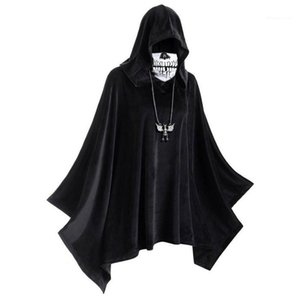 Hooded Solid Color Cloak Mens Womens Designer Cosplay Clothes Halloween Mask Cloak Theme Costume