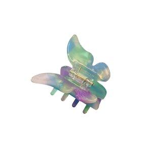 Femmes Filles acétate résine cheveux Griffe douce fée papillon clip Gradient Tie Hairpin-colorant coloré Styling Outils Barrettes