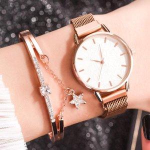 Magnetic Reloj Muje Mulheres Moda Alloy Magnet Assista Casual Ladies Quartz Relógio de pulso elegante feminino pulseira relógio das mulheres
