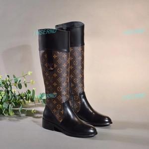 Louis Vuitton Schuhe der neuen Frauen hohe Absätze vielseitig 15-Zoll-Stiefel innere Gürtelschnalle Reißverschluss V spezielle Presbyopie verschleißfeste Ferse hoch 3CM cod