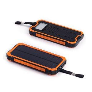 20000mAh DIY Large Capacity LED Light Solar Powered Bank Case Dual USB Ports for Phone Camera Desk Lamp Torch Hook