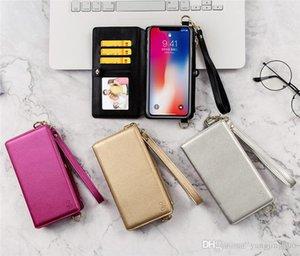 Cgjxs Mobile Phone Shell de Apple 8 / X multi -Function Mobile Phone capa de couro com as costas da The Back corda de inclinação Mobile Phone Bag gratuito