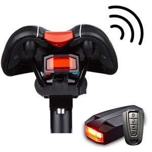 4 In 1 Anti-theft Bike Security Alarm Wireless Remote Control Alerter Taillights Lock Waterproof Bicycle Lamp Accessories