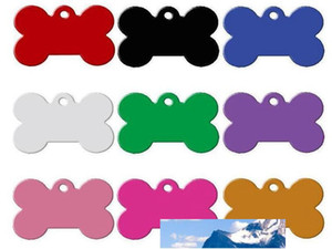 Dog Tag Metal Blank Military Pet Dog ID Card Tags Aluminum Alloy Army Dog Tags No Chain Mixed colors